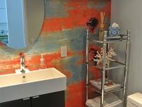 Miami Beach bathroom mural