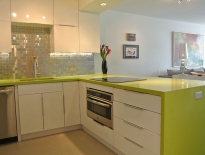 Colorful quartz countertops