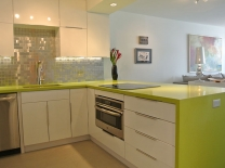 Colorful quartz countertops