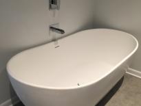 Modern soaker tub